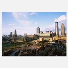 High angle view of a park, Centennial Olympic Park