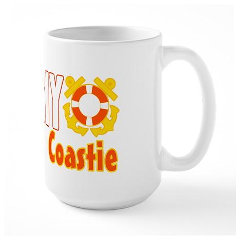I Love My Coastie Large Mug