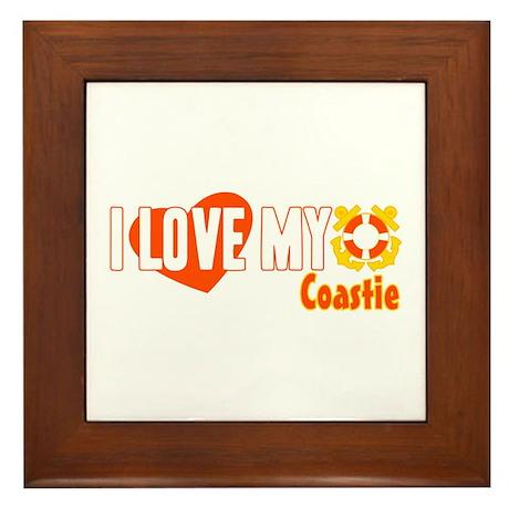 I Love My Coastie Framed Tile