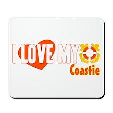 I Love My Coastie Mousepad
