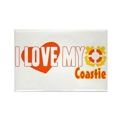 I Love My Coastie Rectangle Magnet