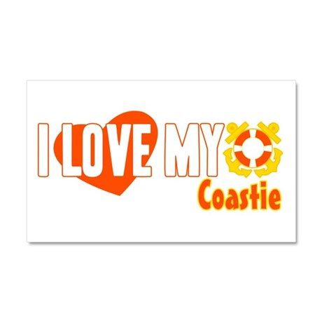 I Love My Coastie Car Magnet 20 x 12