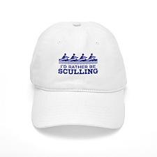 I'd Rather Be Sculling Baseball Cap