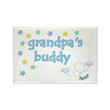 Grandpa's Buddy Star Pilot Rectangle Magnet