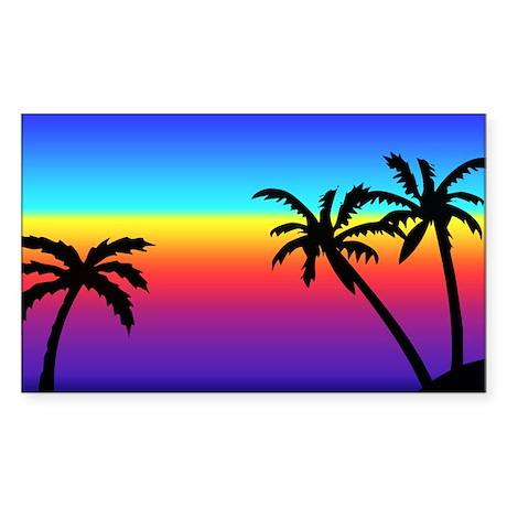 Tropics Sticker (Rectangle)