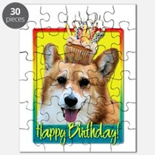 Birthday Cupcake - Corgi Puzzle