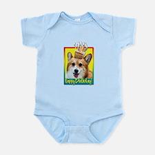 Birthday Cupcake - Corgi Infant Bodysuit
