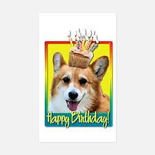 Birthday Cupcake - Corgi Decal