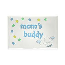 Mom's Buddy Star Pilot Rectangle Magnet