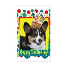 Birthday Cupcake - Corgi Decal