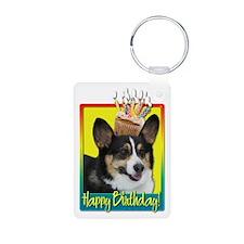 Birthday Cupcake - Corgi Keychains