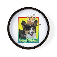 Birthday Cupcake - Corgi Wall Clock