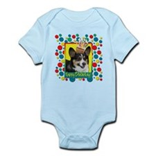 Birthday Cupcake - Corgi Infant Bodysuit