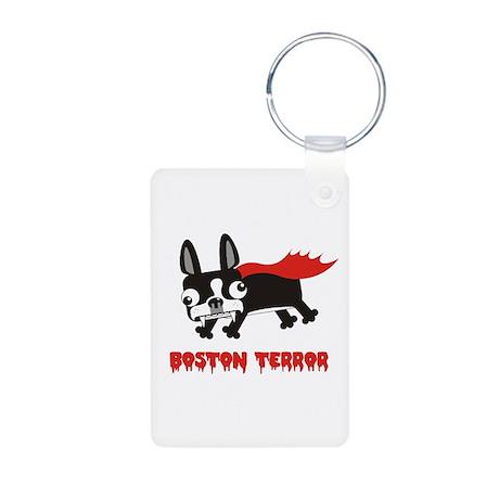 Boston Terror Aluminum Photo Keychain
