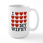 I Love My Wifey Large Mug