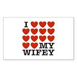 I Love My Wifey Sticker (Rectangle)