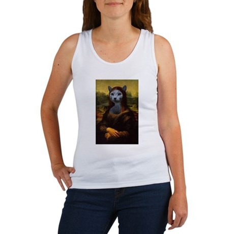 Mona Lisa Art Parody Women's Tank Top