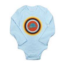 Bullseye Bowler Long Sleeve Infant Bodysuit