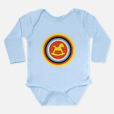 Bullseye Pony Long Sleeve Infant Bodysuit