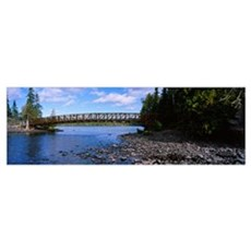 Bridge across a channel, Lake Superior, Isle Royal Poster