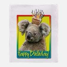 Birthday Cupcake - Koala Throw Blanket