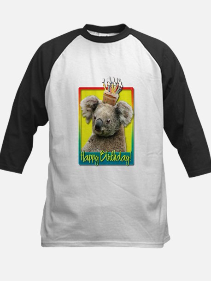 Birthday Cupcake - Koala Kids Baseball Jersey