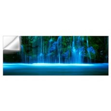 Waterfall on a cliff, Mossbrae Falls, Sacramento R Wall Decal