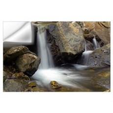 Waterfall On Rocky Mina Creek Wall Decal
