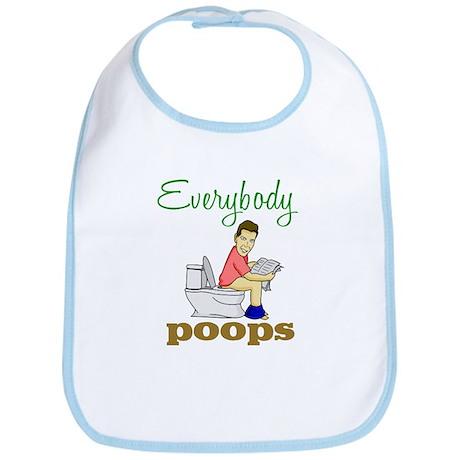 Everybody Poops Bib