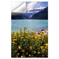Wildflowers in bloom, Lake Louise, Alberta, Canada Wall Decal