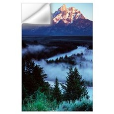 Mist over Snake River, sunrise light, Grand Teton Wall Decal