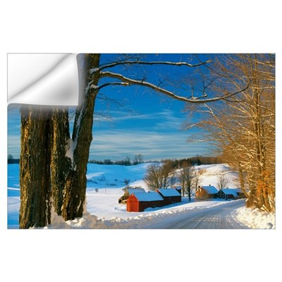 Snow-covered farm, Vermont Wall Decal