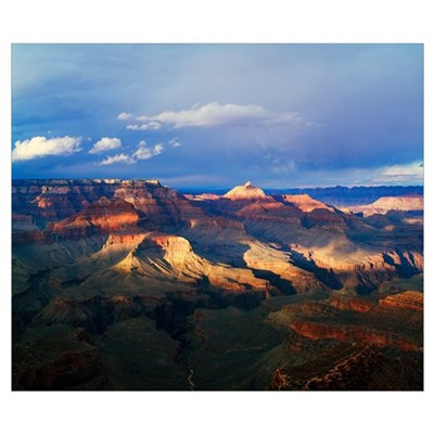 View of Grand Canyon from Shoshone Point, storm cl Poster
