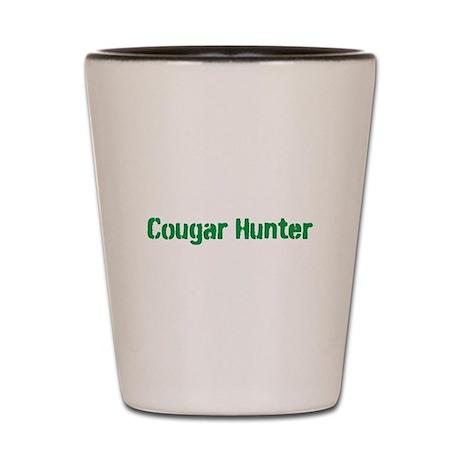 Cougar Hunter Gifts Shot Glass