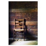 Antique ladderback chair Posters