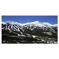 Ski resorts in front of a mountain range, Breckenr Canvas Art