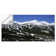 Ski resorts in front of a mountain range, Breckenr Wall Decal