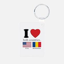 USA-ROMANIA Keychains