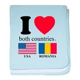 Usa romania Blanket