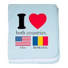 USA-ROMANIA baby blanket