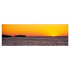 Lake at sunset, Upper Peninsula, Lake Superior, Mi Poster