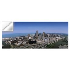 Aerial Cleveland OH Wall Decal