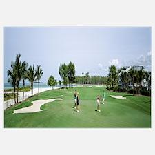 Four people playing golf, South Seas Plantation, C