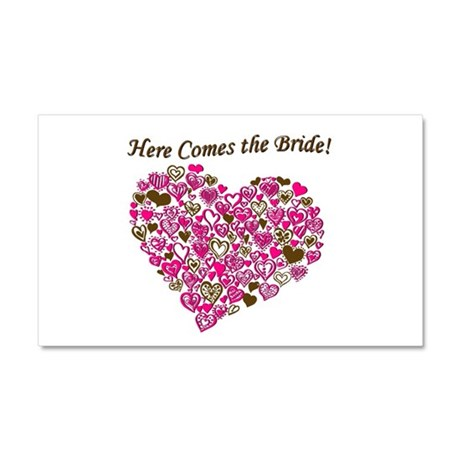 Here Comes The Bride Car Magnet 20 x 12