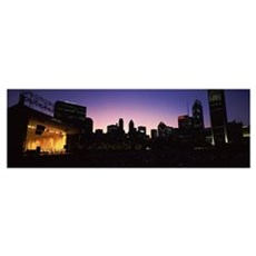 Stage lit up at night, Grant Park, Chicago, Illino Canvas Art