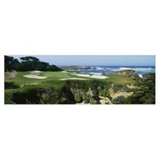 Golf course, Cypress Point Golf Course, Pebble Bea Framed Print