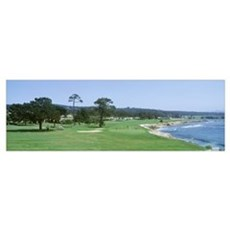 Pebble Beach Golf Course CA USA Framed Print