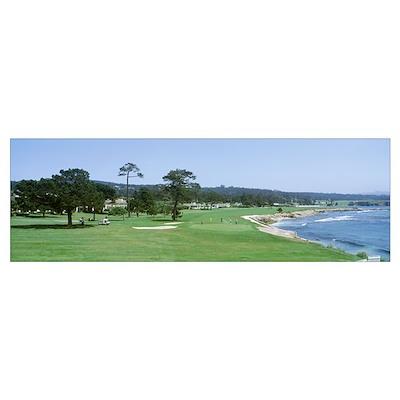 Pebble Beach Golf Course CA USA Poster