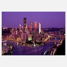 Dusk Pittsburgh PA USA