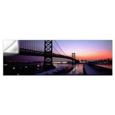 Suspension bridge across a river, Ben Franklin Bri Wall Decal